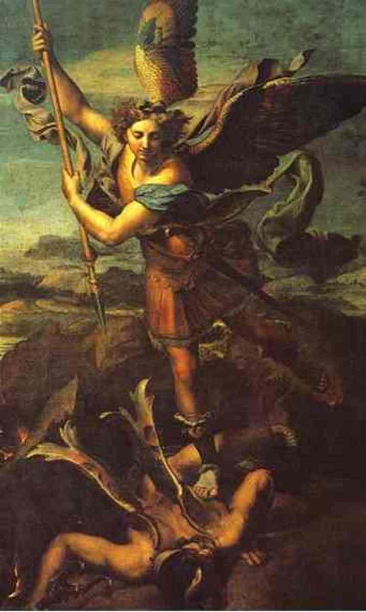 St. Michael and Satan, Raphael (1483-1520)