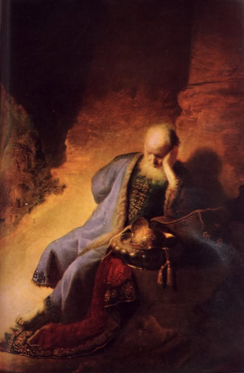 The Prophet Jeremiah Mourning over the Destruction of Jerusalem, Rembrandt Harmenszoon van Rijn (1606-1669)