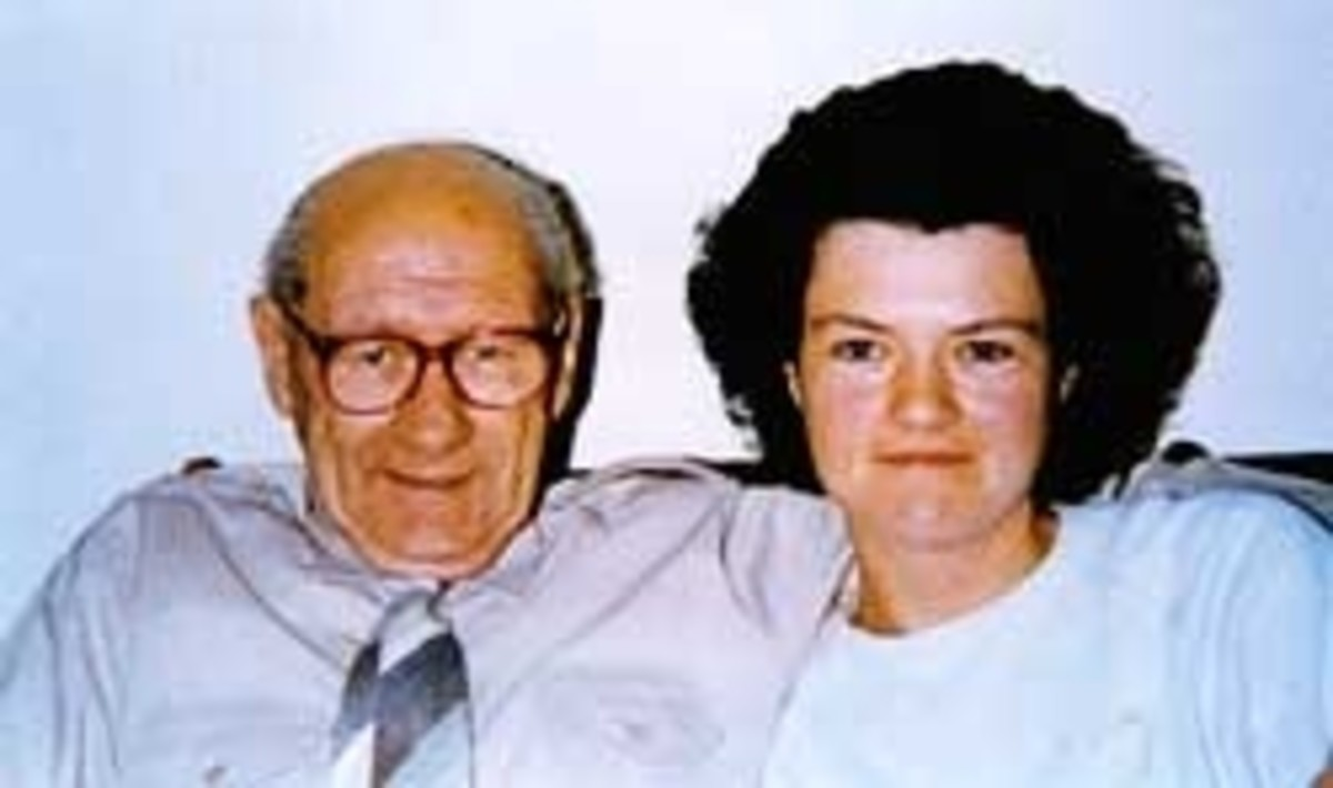 """Jenny Cockell with her """"son from a previous life"""" Sonny Sutton (Now deceased)"""
