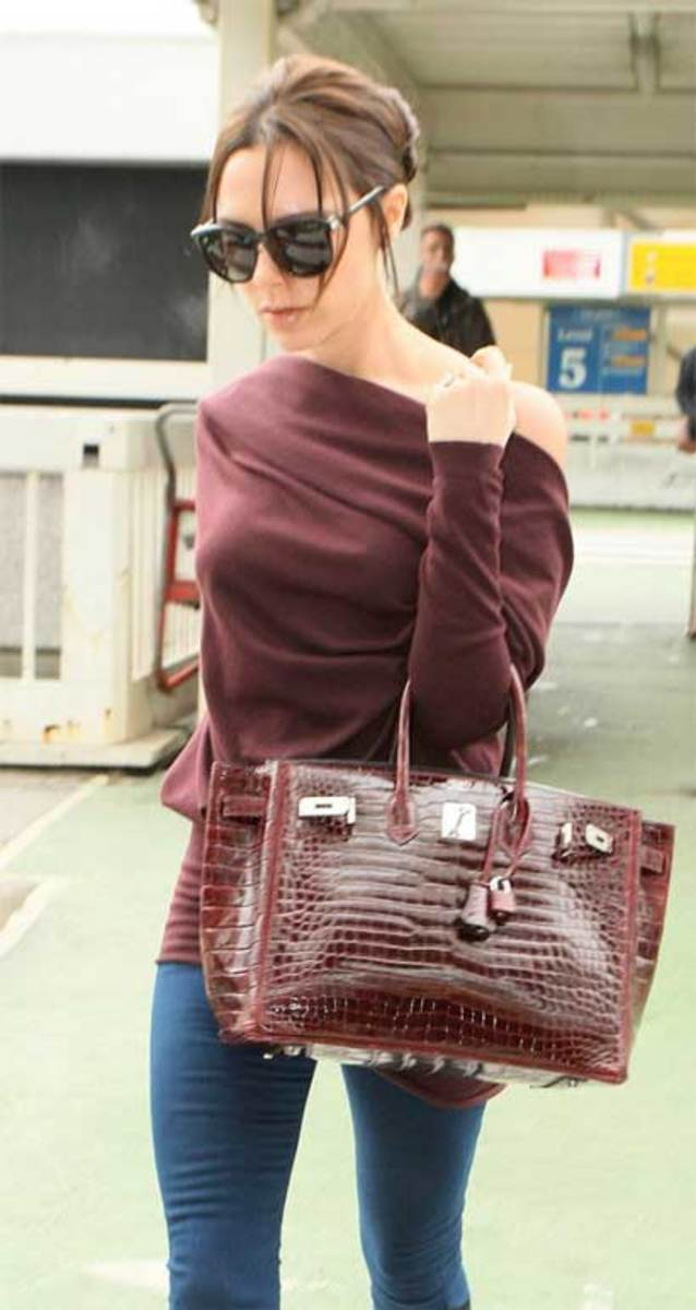 Celebrities / famous people with their Hermes Birkin bag