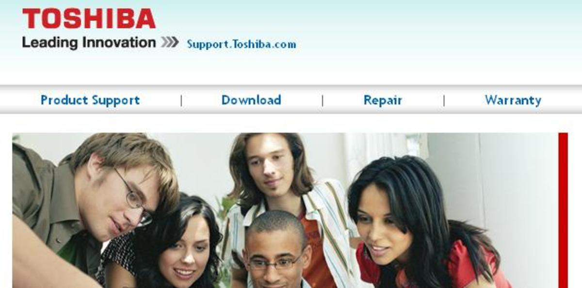 "Begin the search for your Toshiba TV model by selecting ""Product Support"" on the Toshiba Support home page."