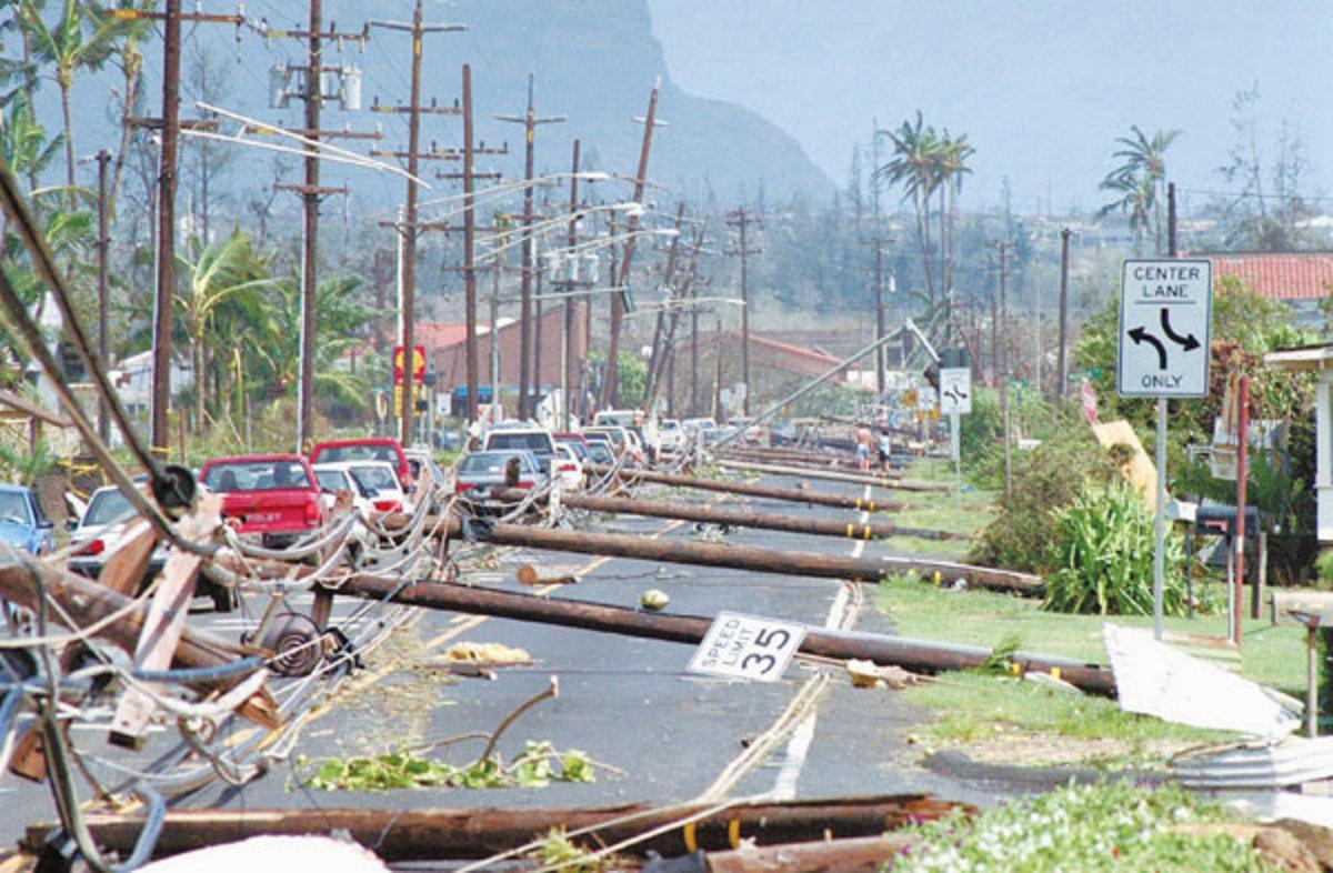 Hurricane Iniki -Kauai, Hawaii Sept. 11, 1992 Category 4