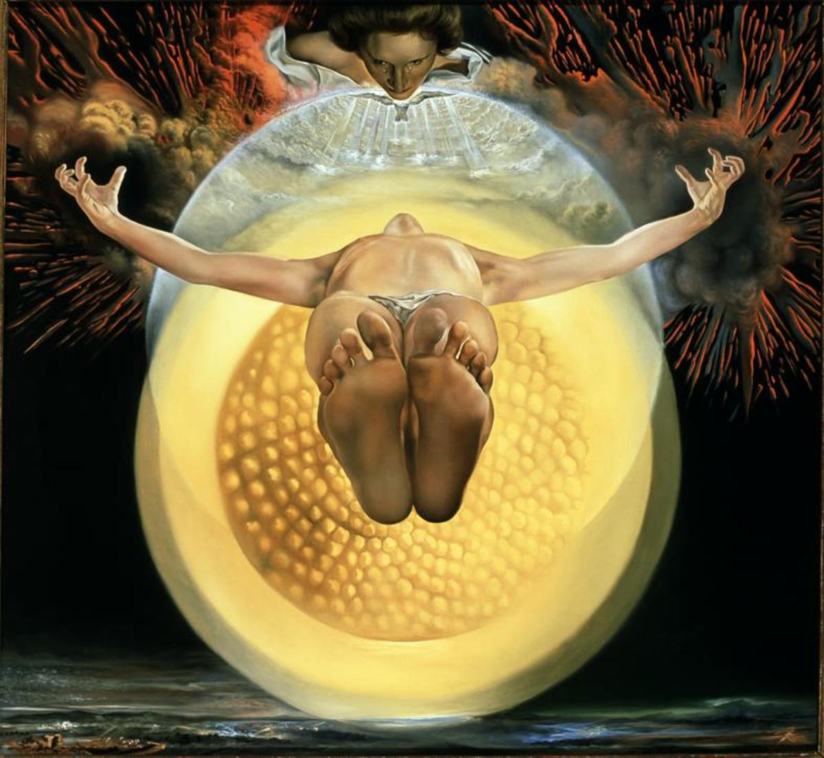 """THE ASCENSION OF CHRIST"" BY SALVADOR DALI (1958)"