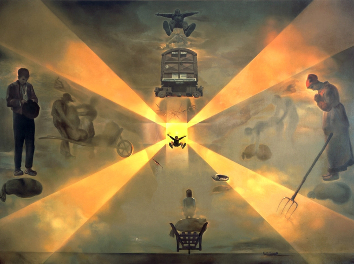 """THE STATION AT PERPIGNAN"" BY SALVADOR DALI (1965)"