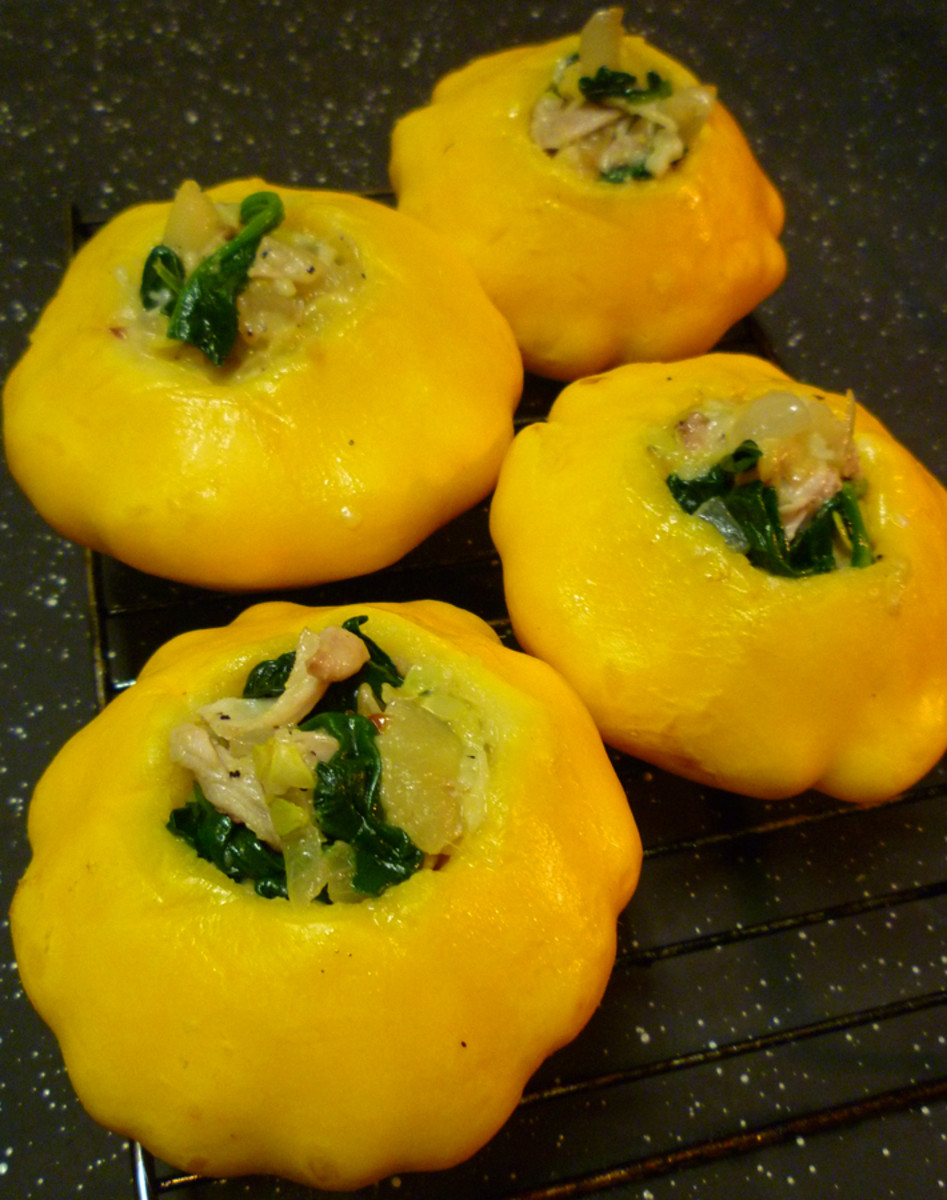 Stuffed Sunburst Squash Recipe
