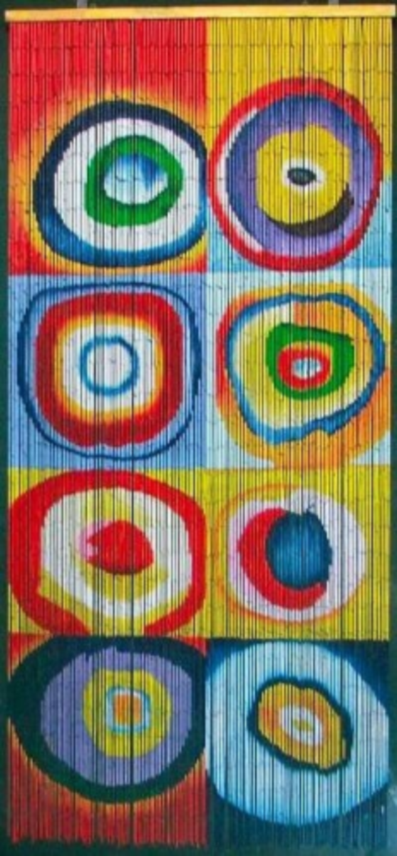 Squares & Rings - Kandinsky Beaded Curtain 125 Strands