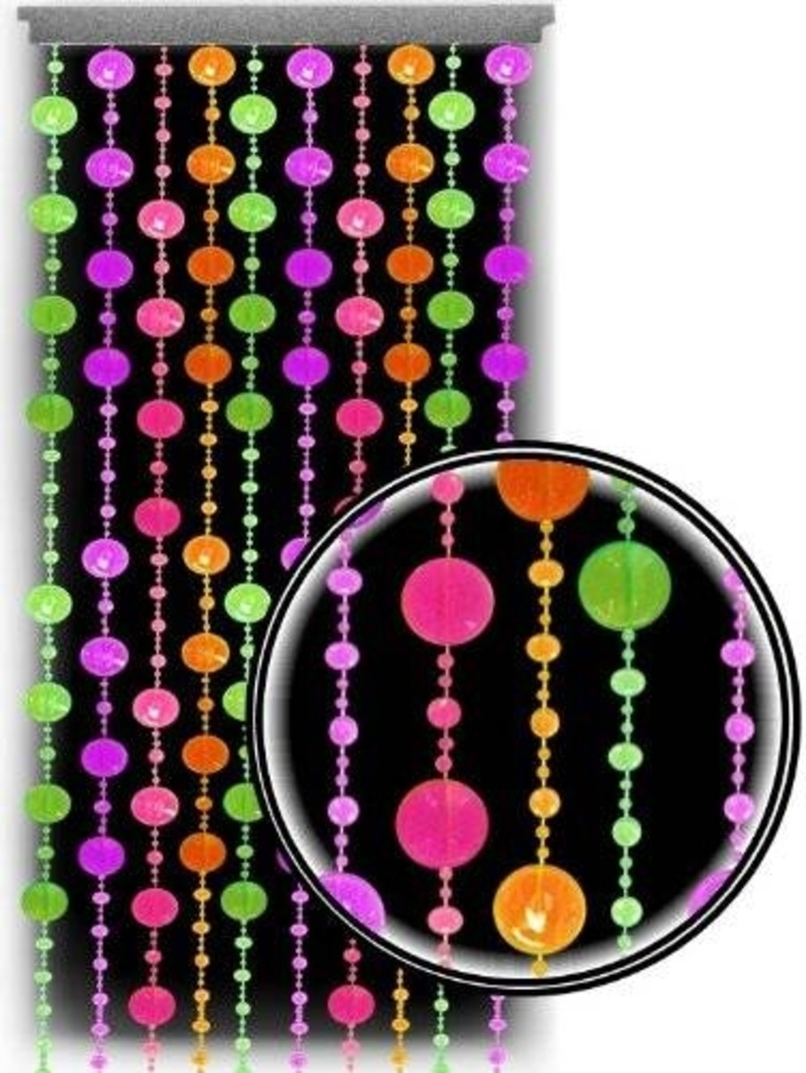 Polka Dot Beaded Curtains For Doors