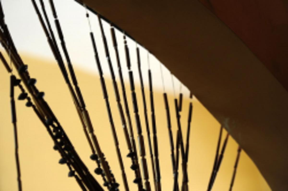 bamboo curtain in Jenin