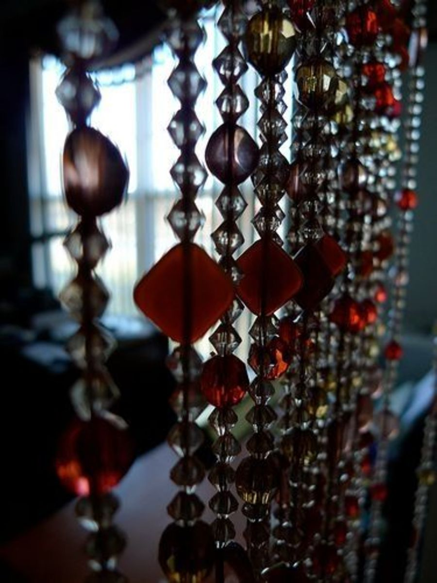 How About This Fun Idea With Glass Beads As Room Divider?