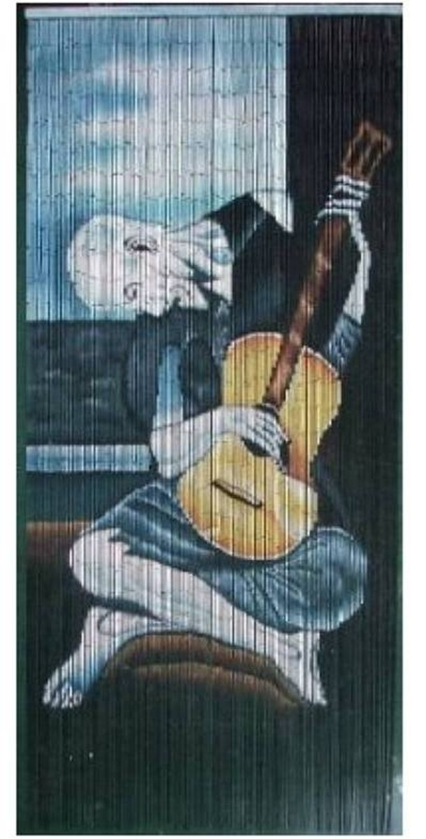 Old Guitarist - Picasso Beaded Curtain 125 Strands