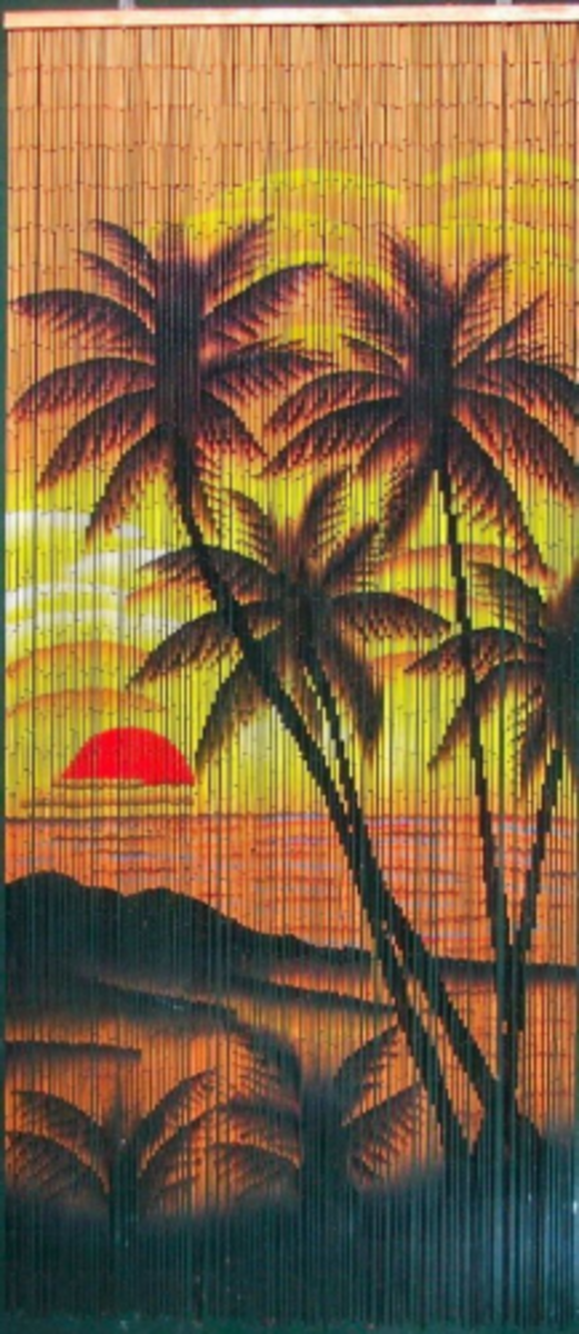 Sunset Palm Beaded Curtain 125 Strands