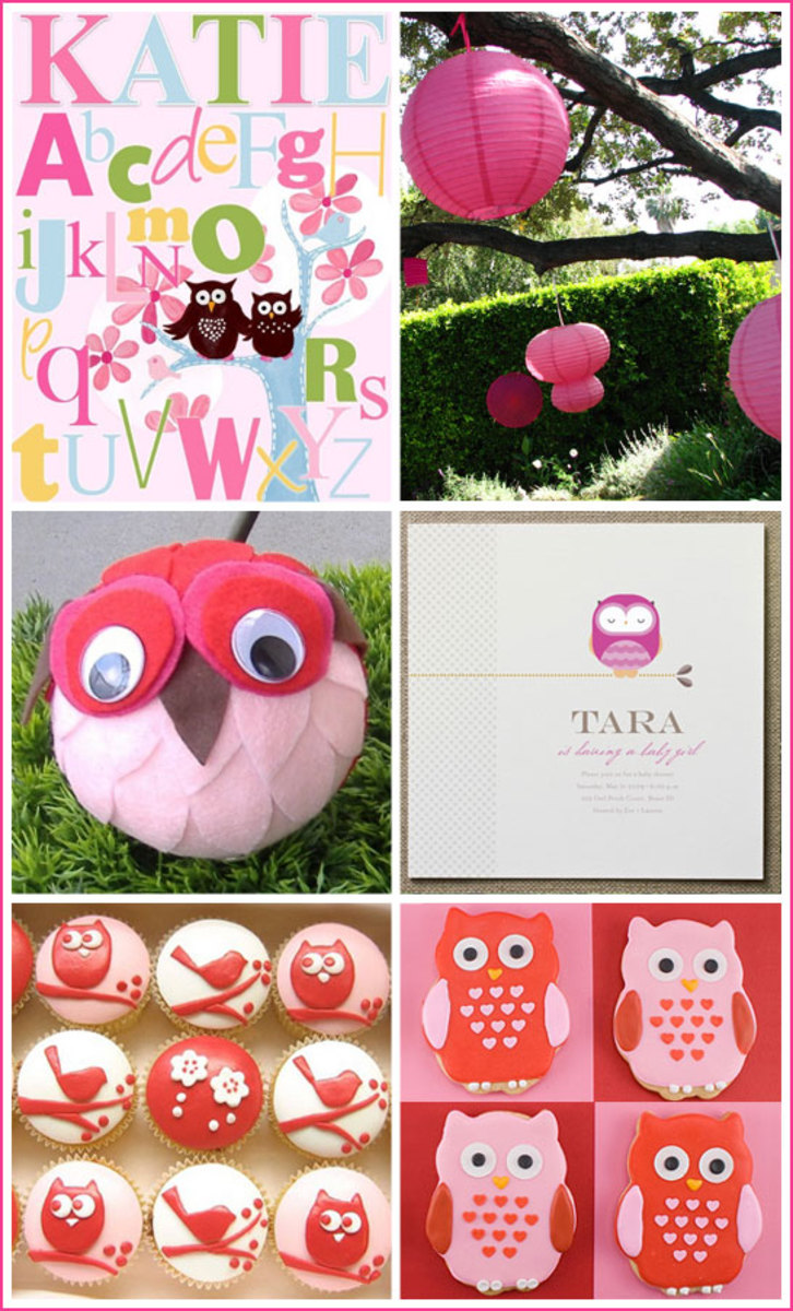 Pink Owl Baby Shower Inspiration