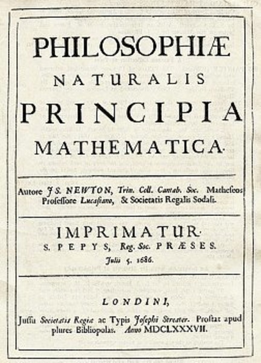 """Fig. 2. """"Principia"""", one of the most famous scientific books ever. Newton waited for decades to publish his discoveries."""