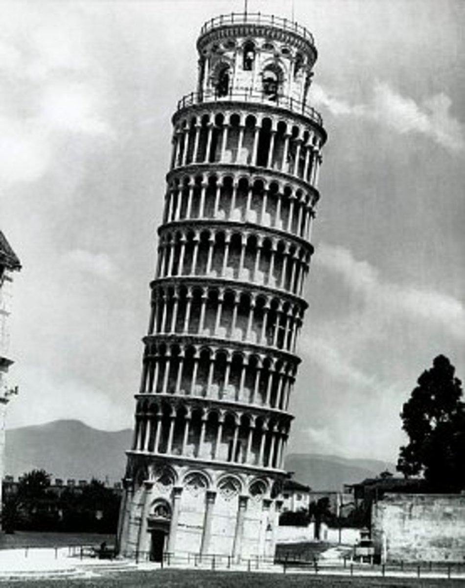 Fig. 4. Leaning Tower of Pisa, where Galileo Galilei (1564-1642), an Italian physicist, mathematician and astronomer performed experiments. Galilei made a great contribution to understanding of the free fall and motion in general.