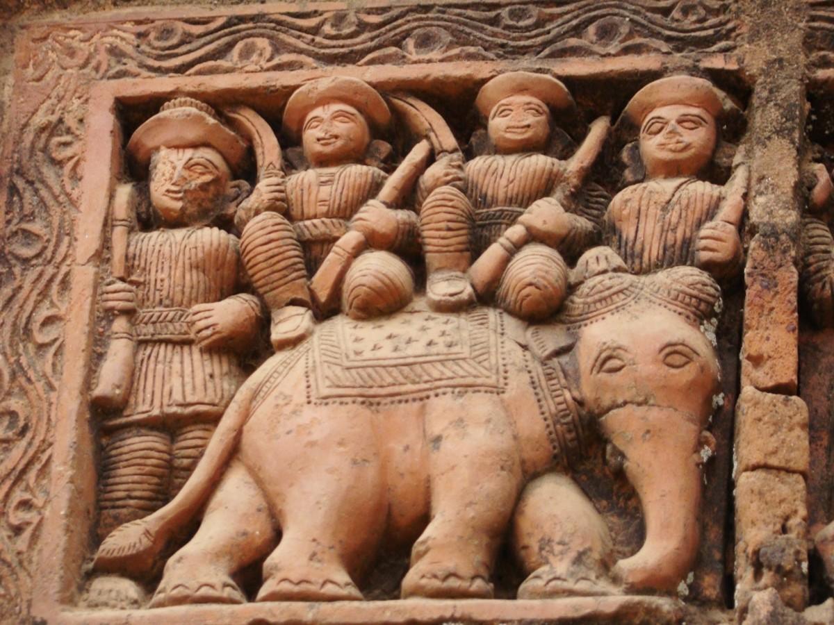Terracotta art in Supur Twin Temples 9