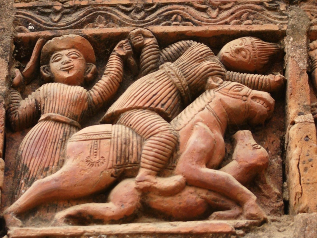 Terracotta art in Supur Twin Temples 10