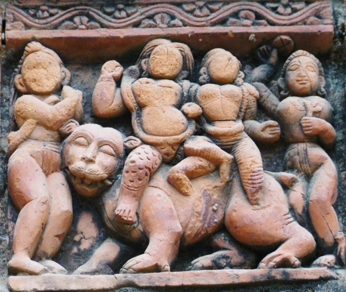Terracotta art in Supur Twin Temples 6