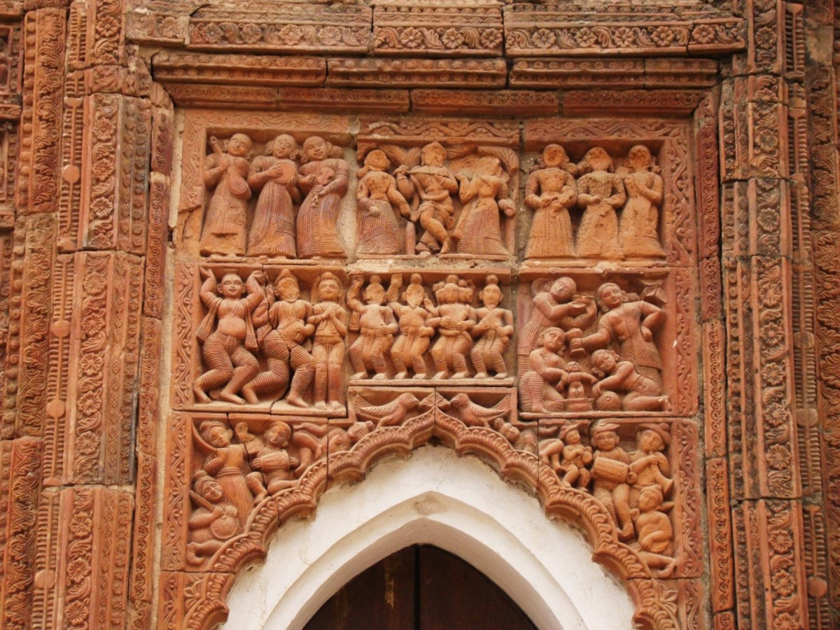 Terracotta art in Supur Twin Temples 3