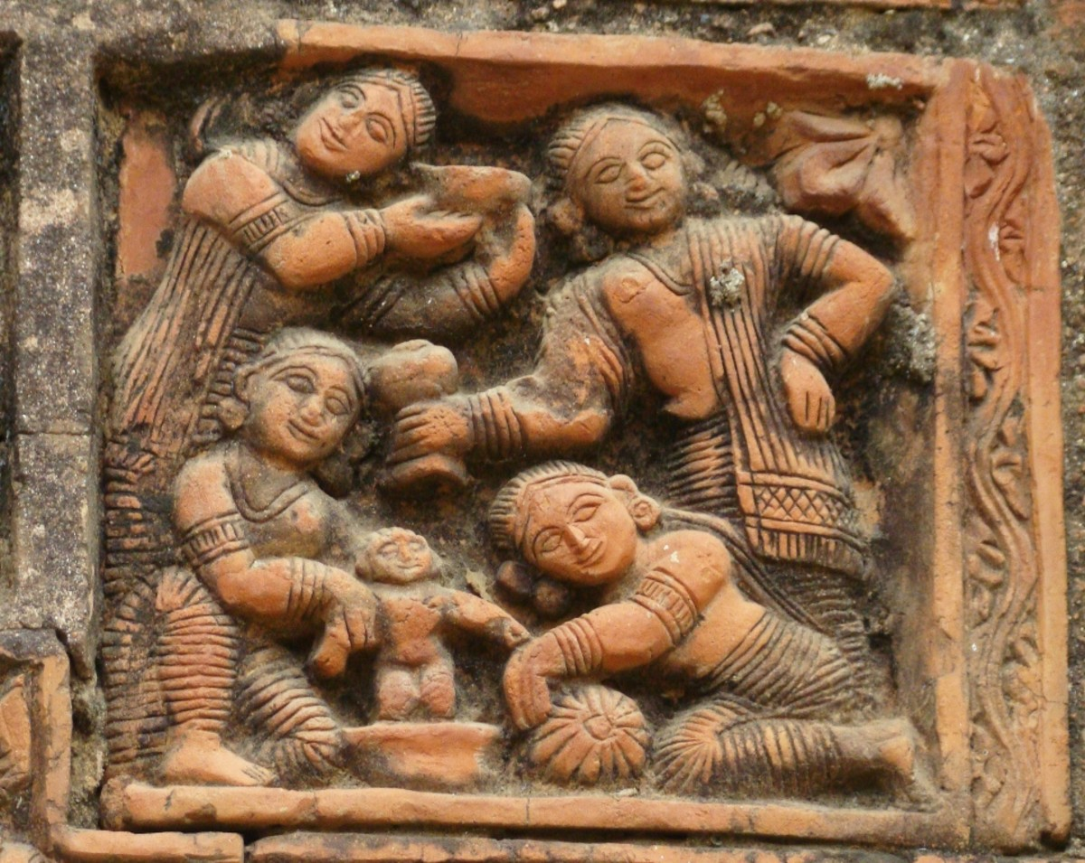 Terracotta art in Supur Twin Temples 4