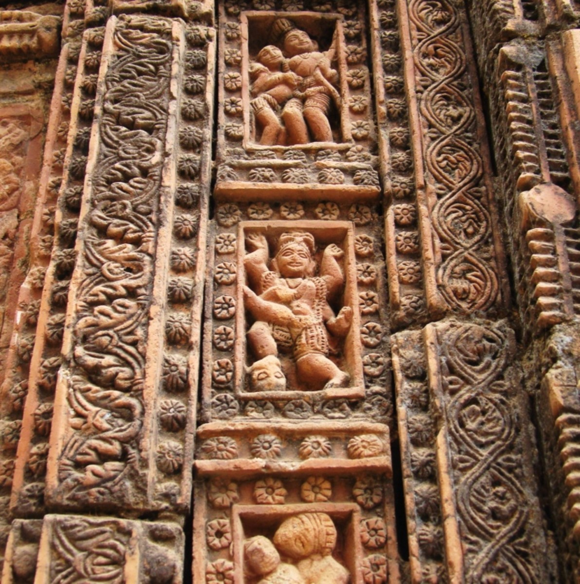 Terracotta art in Supur Twin Temples 17