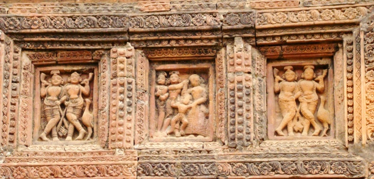 Terracotta art in Supur Twin Temples 1