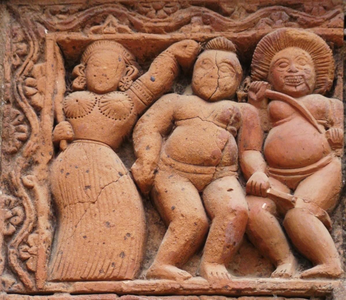 Terracotta art in Supur Twin Temples 5