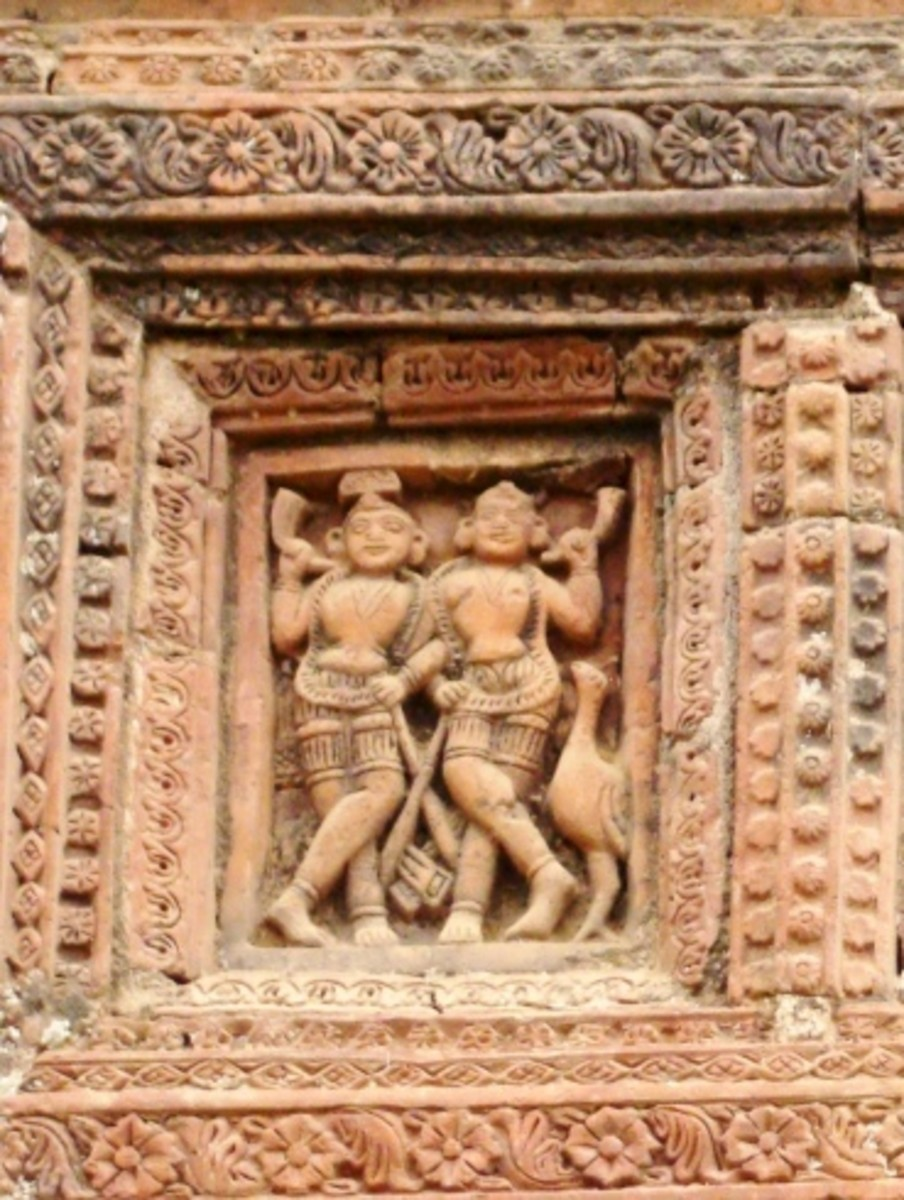 Terracotta art in Supur Twin Temples 2