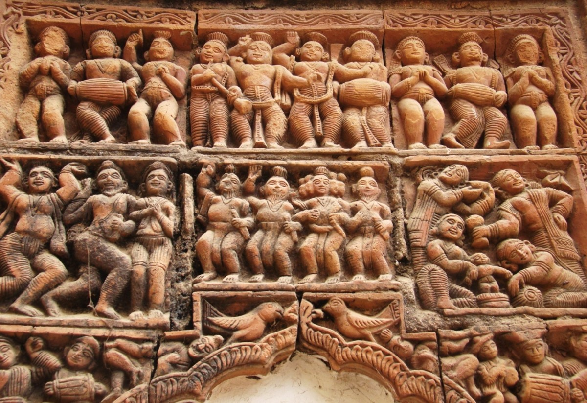 Terracotta art in Supur Twin Temples 15