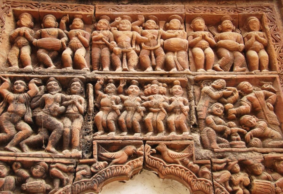 Terracotta art in Supur Twin Temples 15