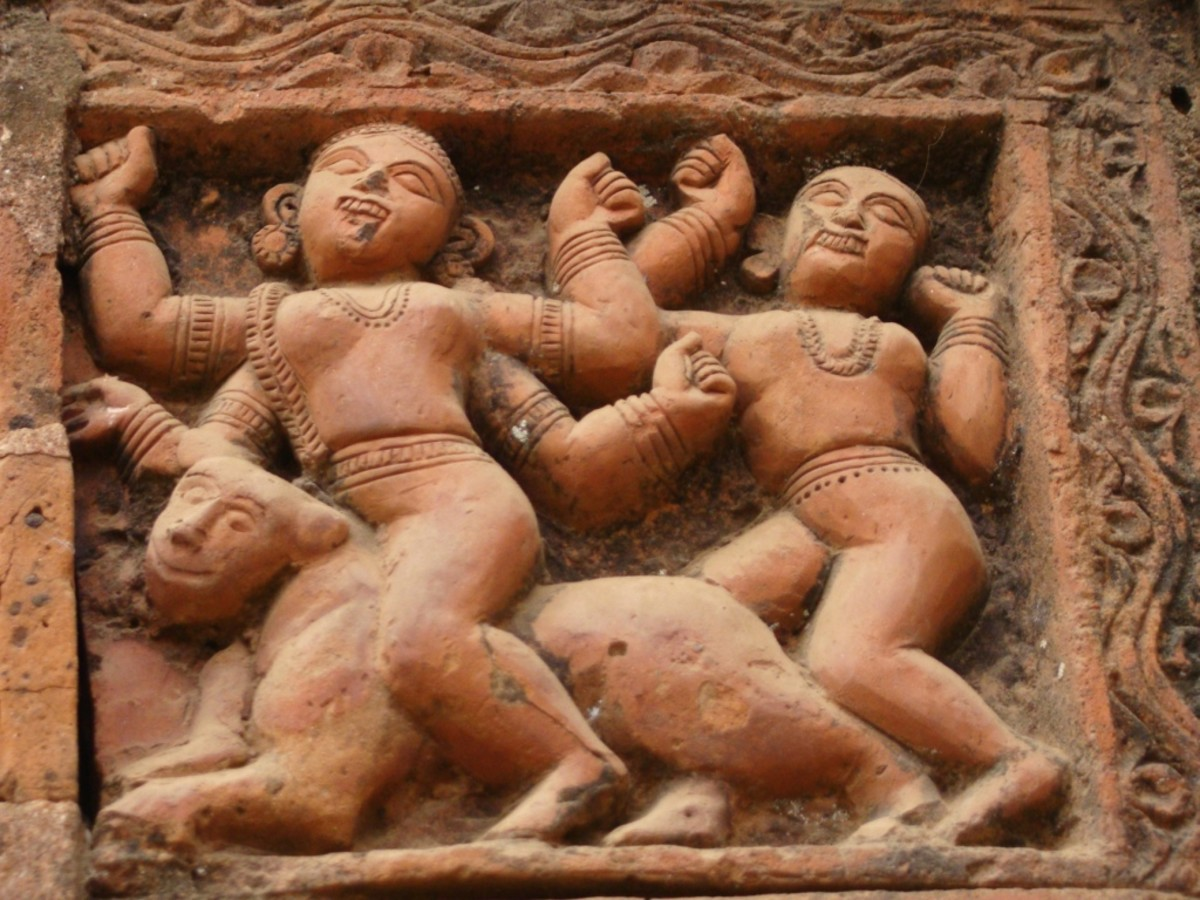 Terracotta art in Supur Twin Temples 11