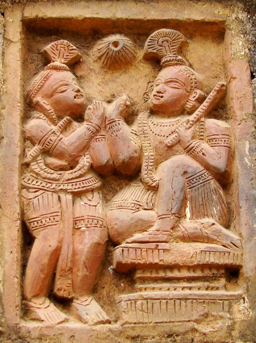 Terracotta art in Supur Twin Temples 18