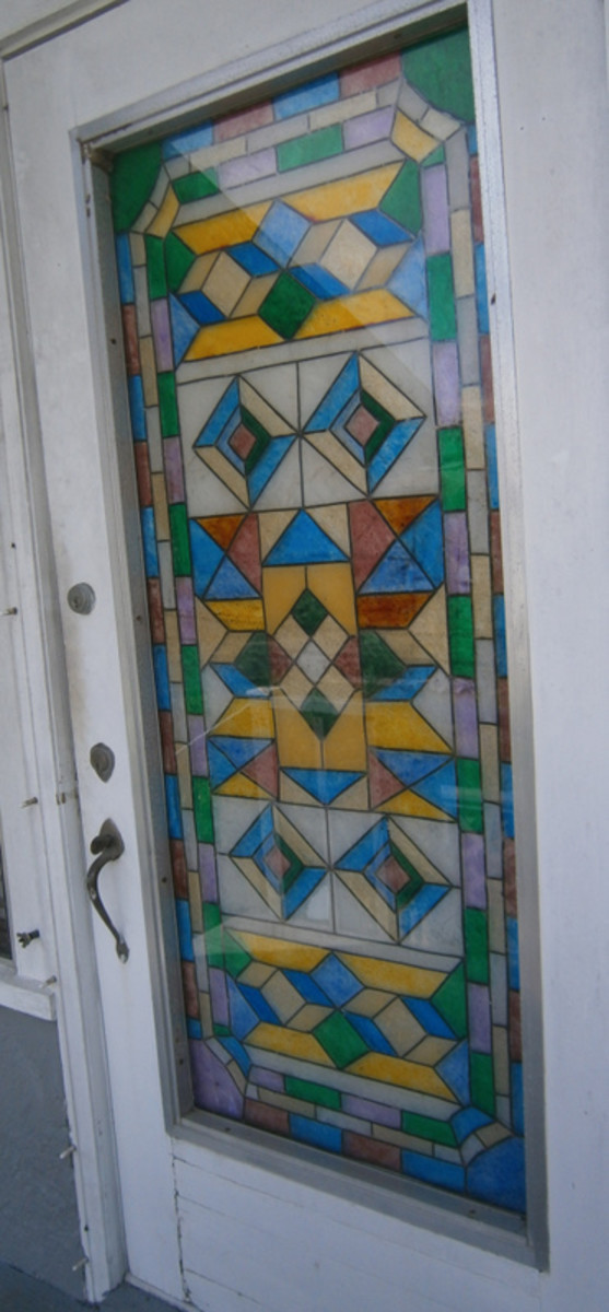 How To Faux Stained Glass Windows and Doors To Look Like The Real Thing! Instructions and Photos