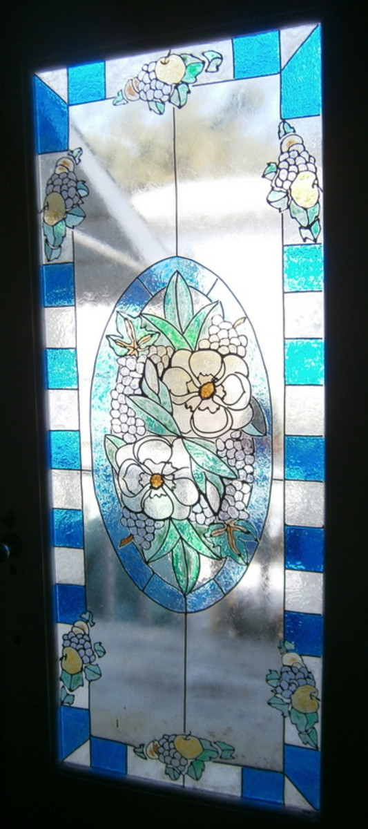 Dining Room Door After Faux Stain Glass Part 45