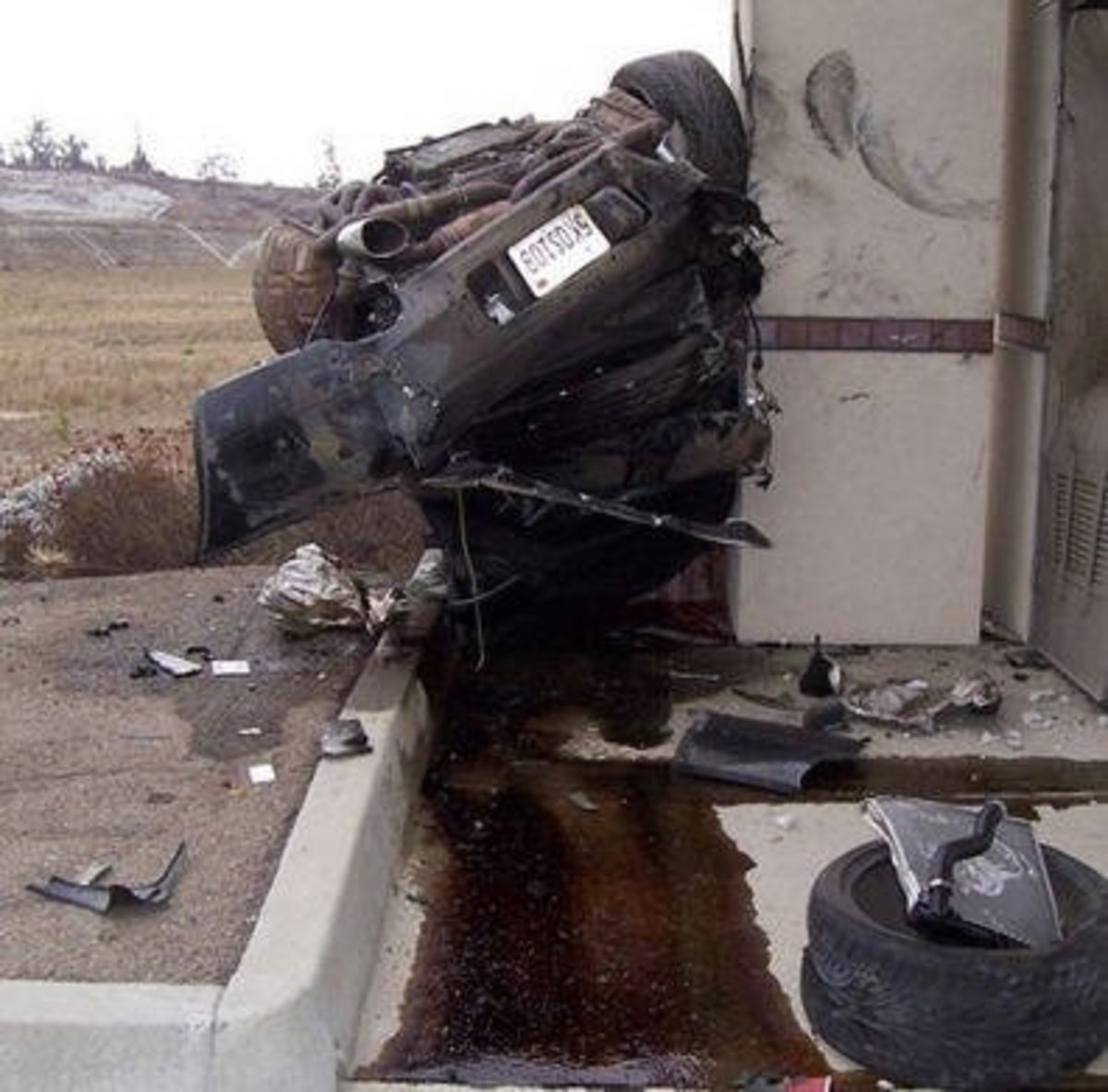 Car crash teen girl
