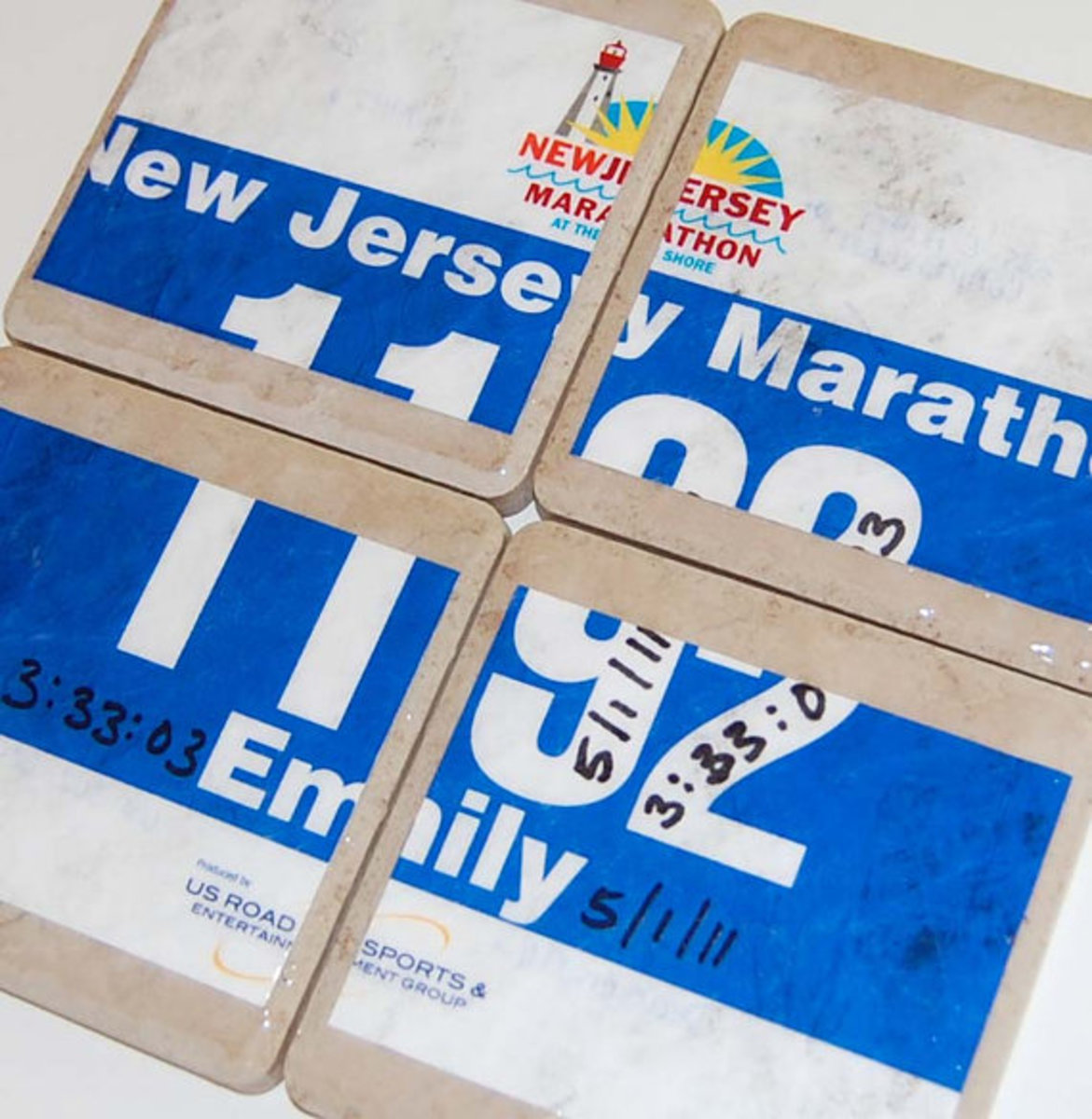 Race Bib Coasters