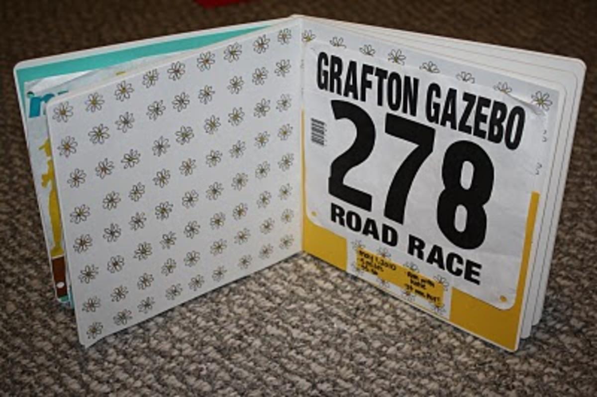 Race Bib Scrapbook