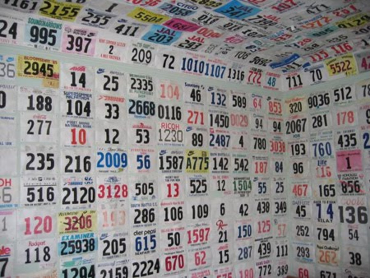 Turn Your Race Bibs Into Wallpaper