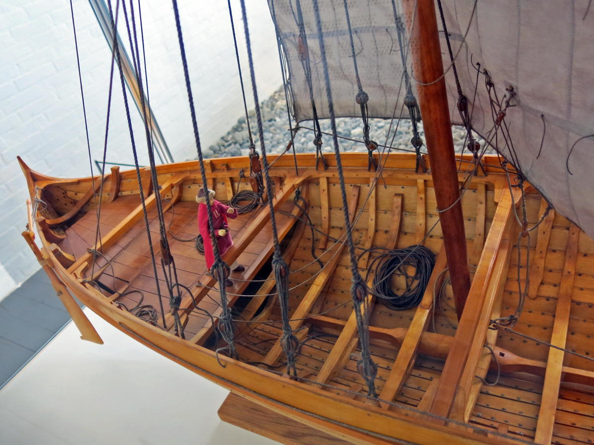The shrouds or rigging on 'Sea Stallion'