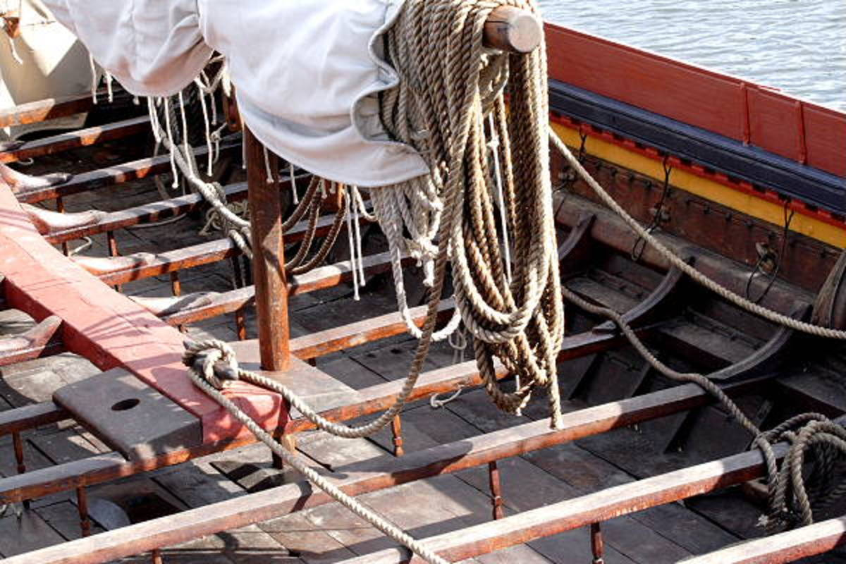 Rowing benches on 'Havhinsgsten' (pron. 'howhinsten) Sea Stallion of Glendalough, Ireland,