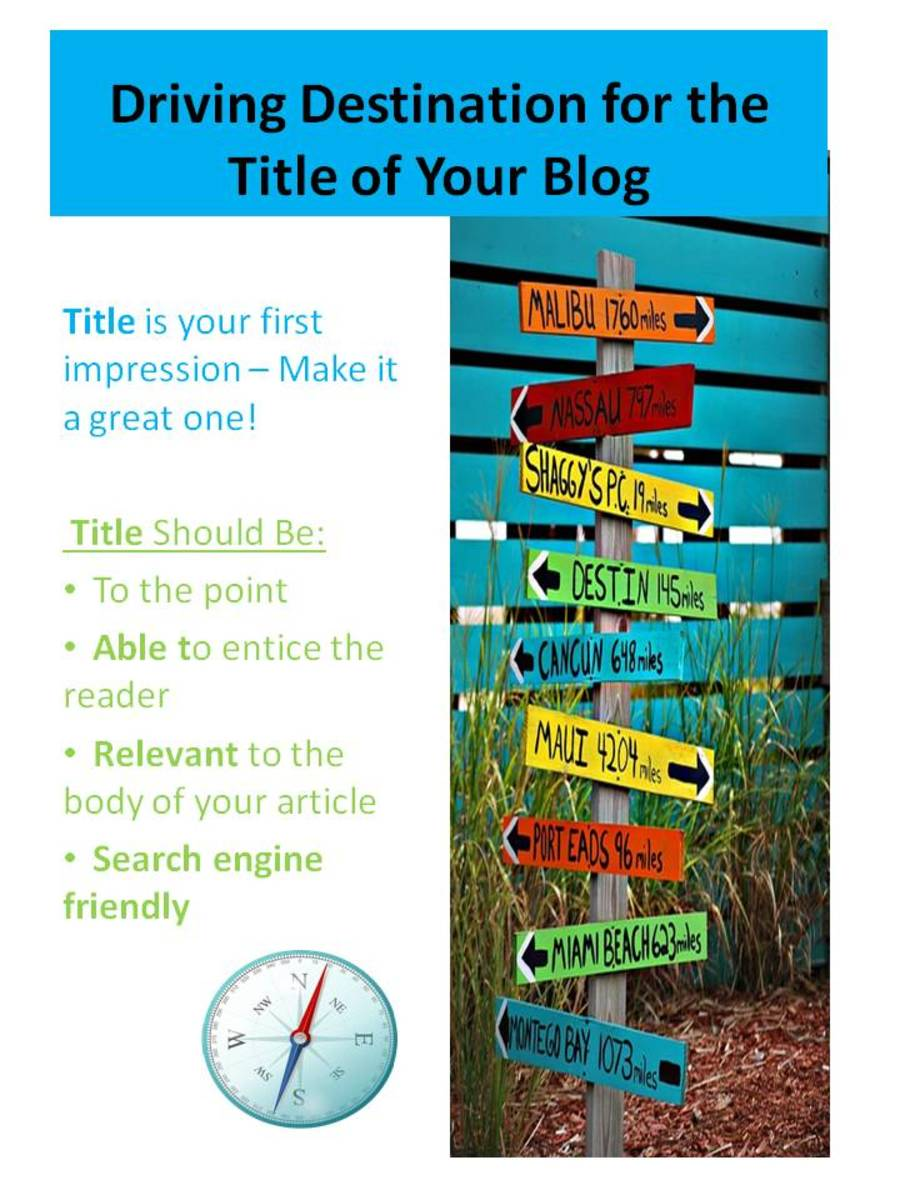 colorful poster of driving destination for designing the url of your blog title