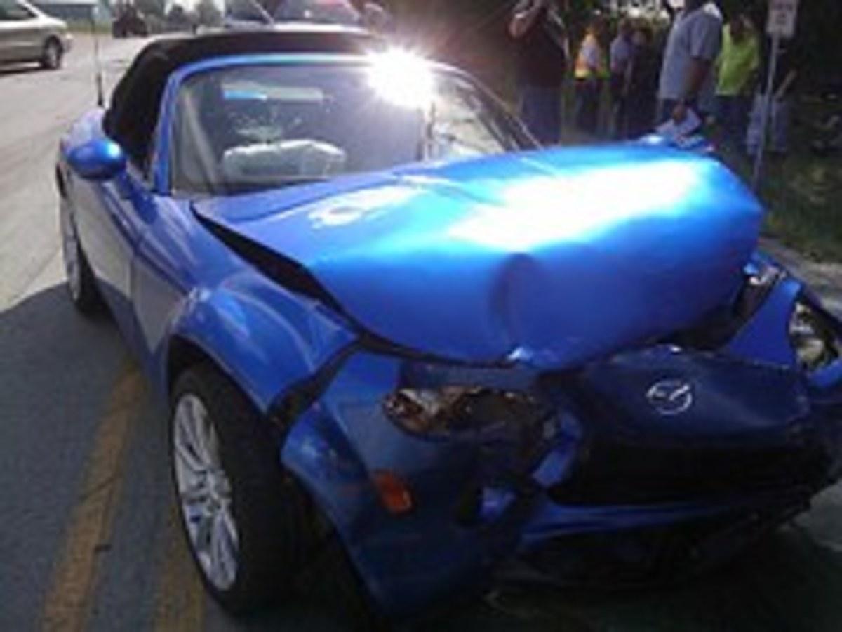 Photo of slight damage
