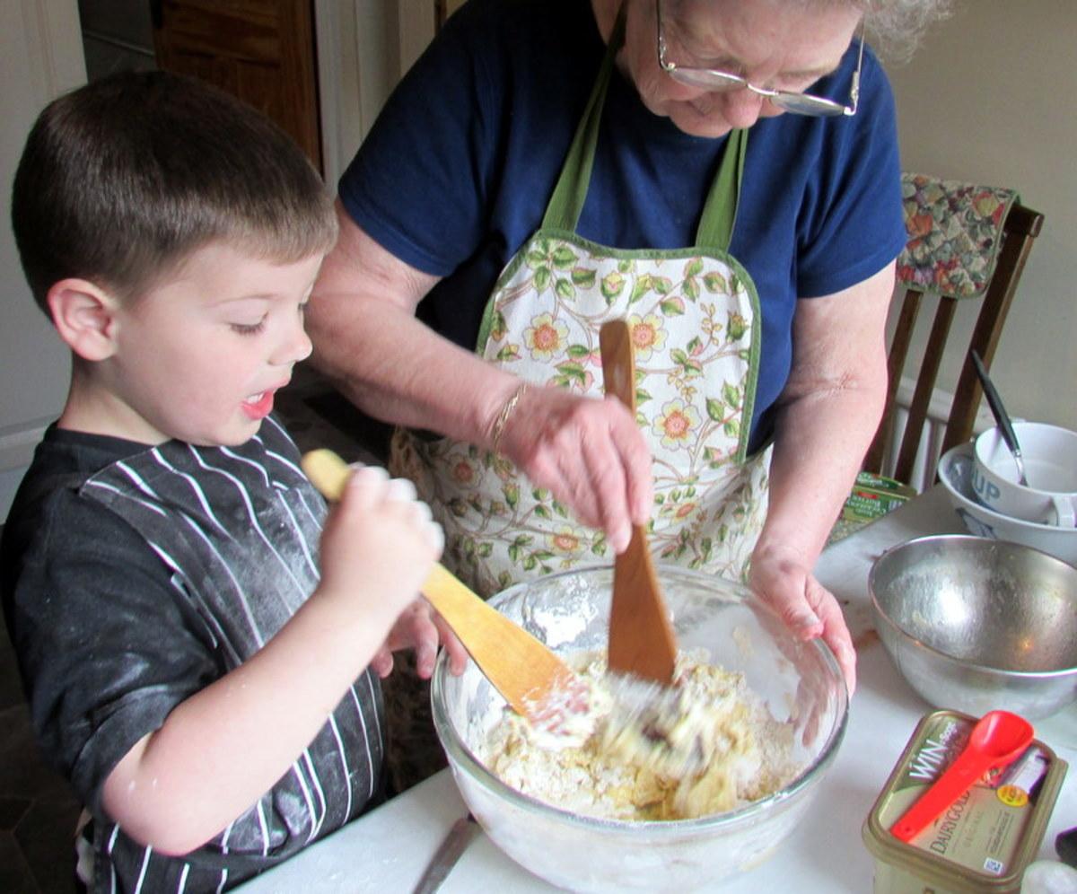 Helping Grandma Bake Muffins
