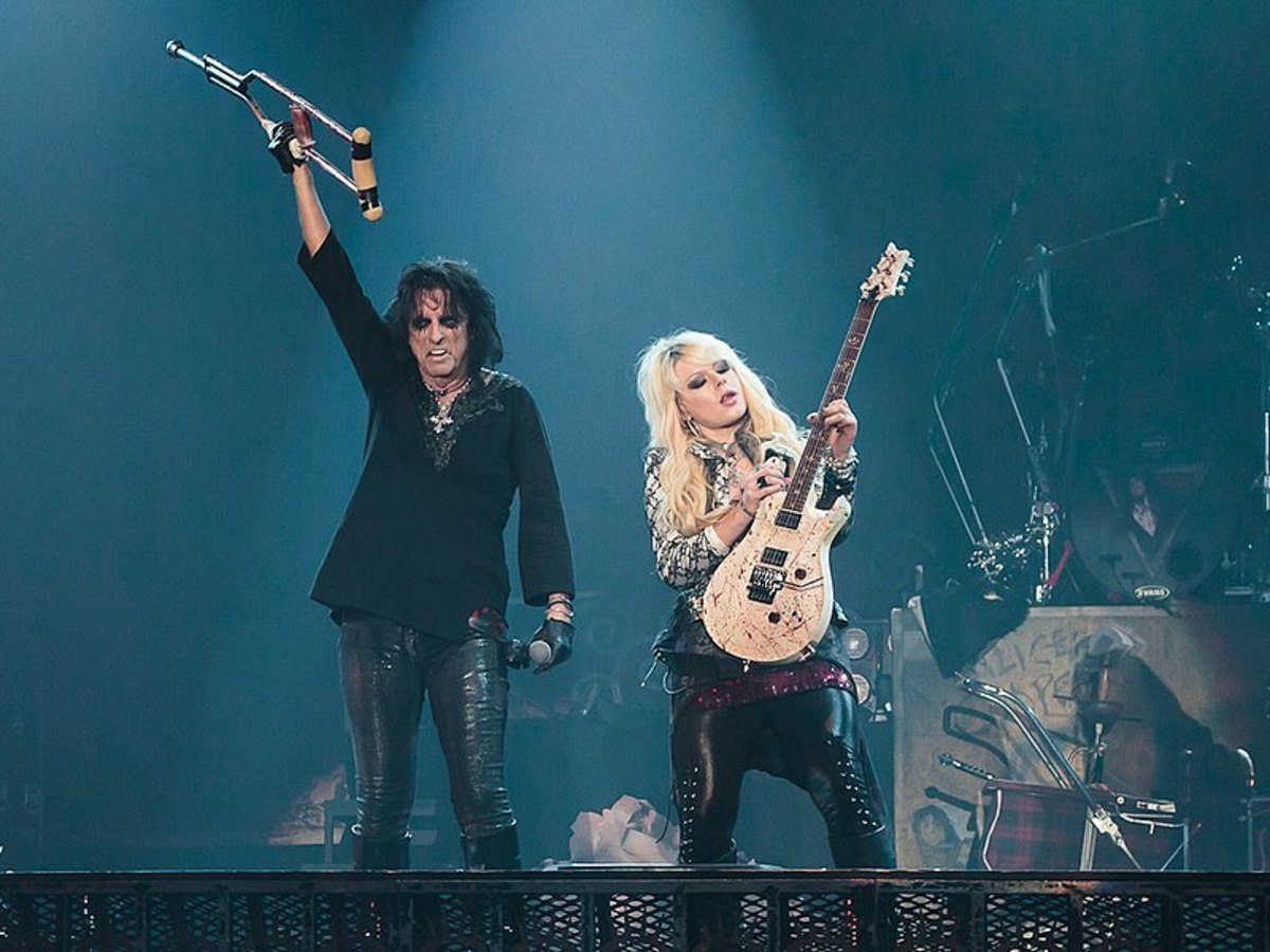 With Alice Cooper.