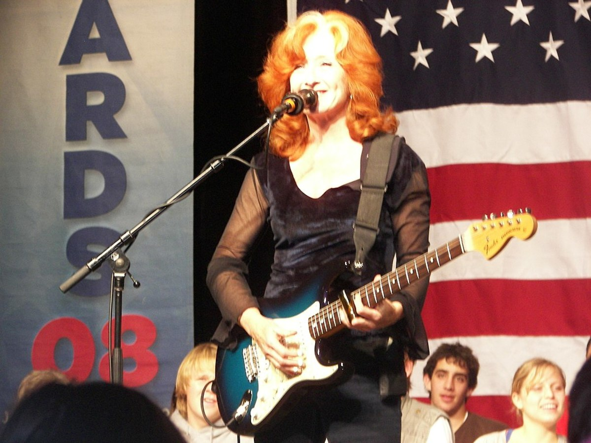 Bonnie Raitt and a Fender Stratocaster