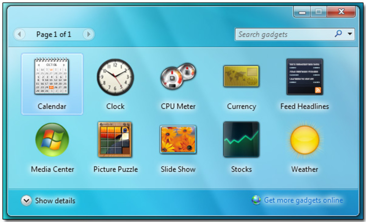 Windows 7 Desktop Gadgets: Clock, Sticky Notes, and More