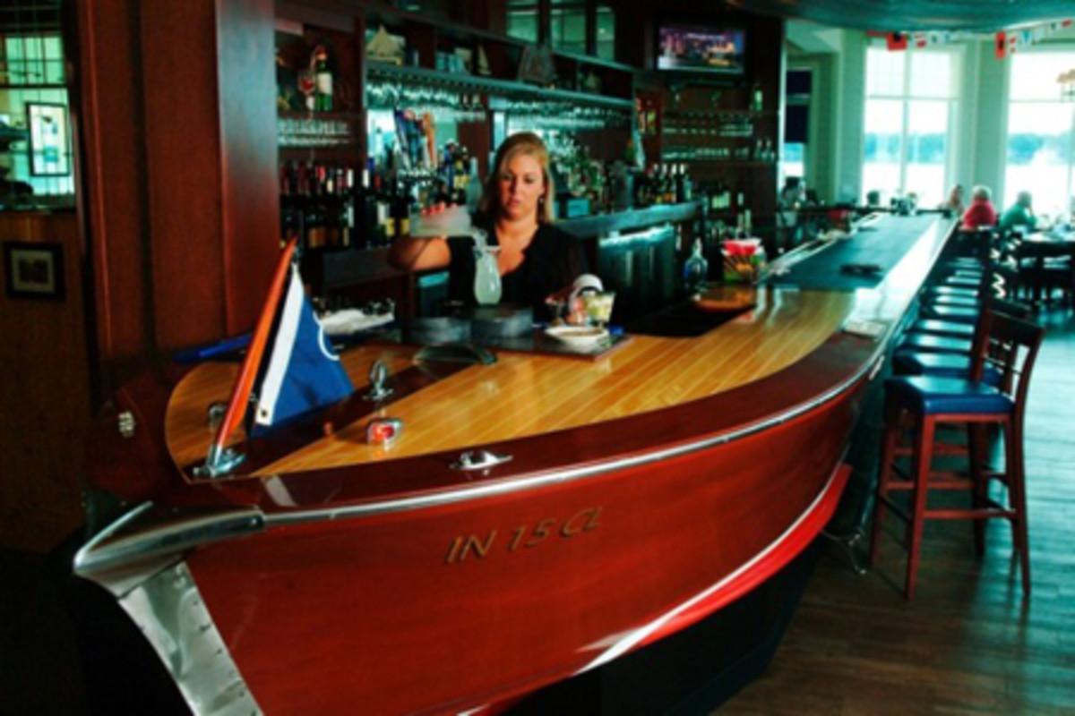 Wooden Boat Bar