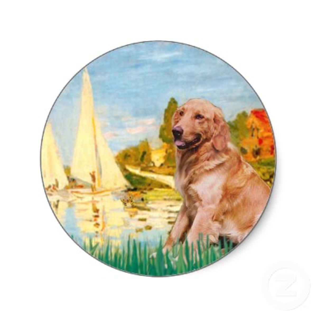 Masterpiecedogs Golden Retrievers and Sail Boats