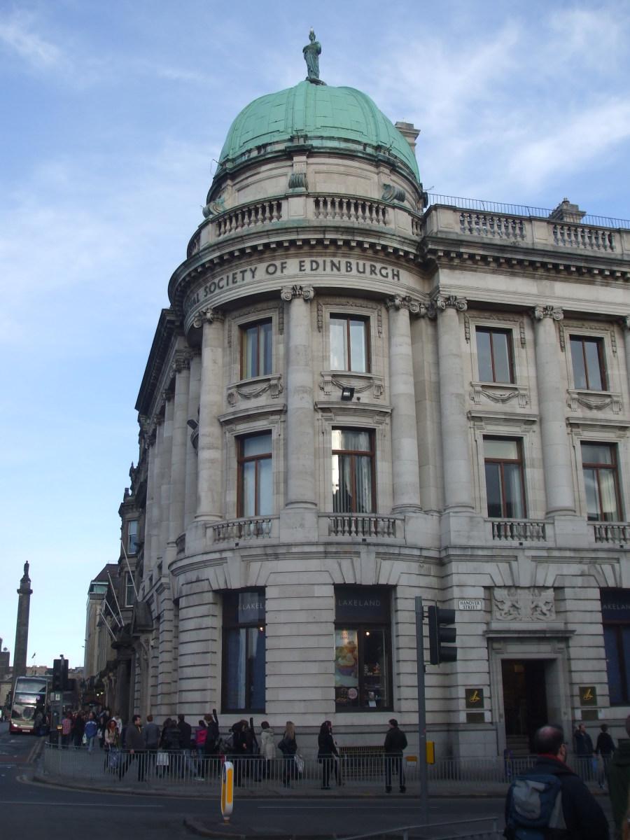 The Royal Society of Edinburgh building in George Street
