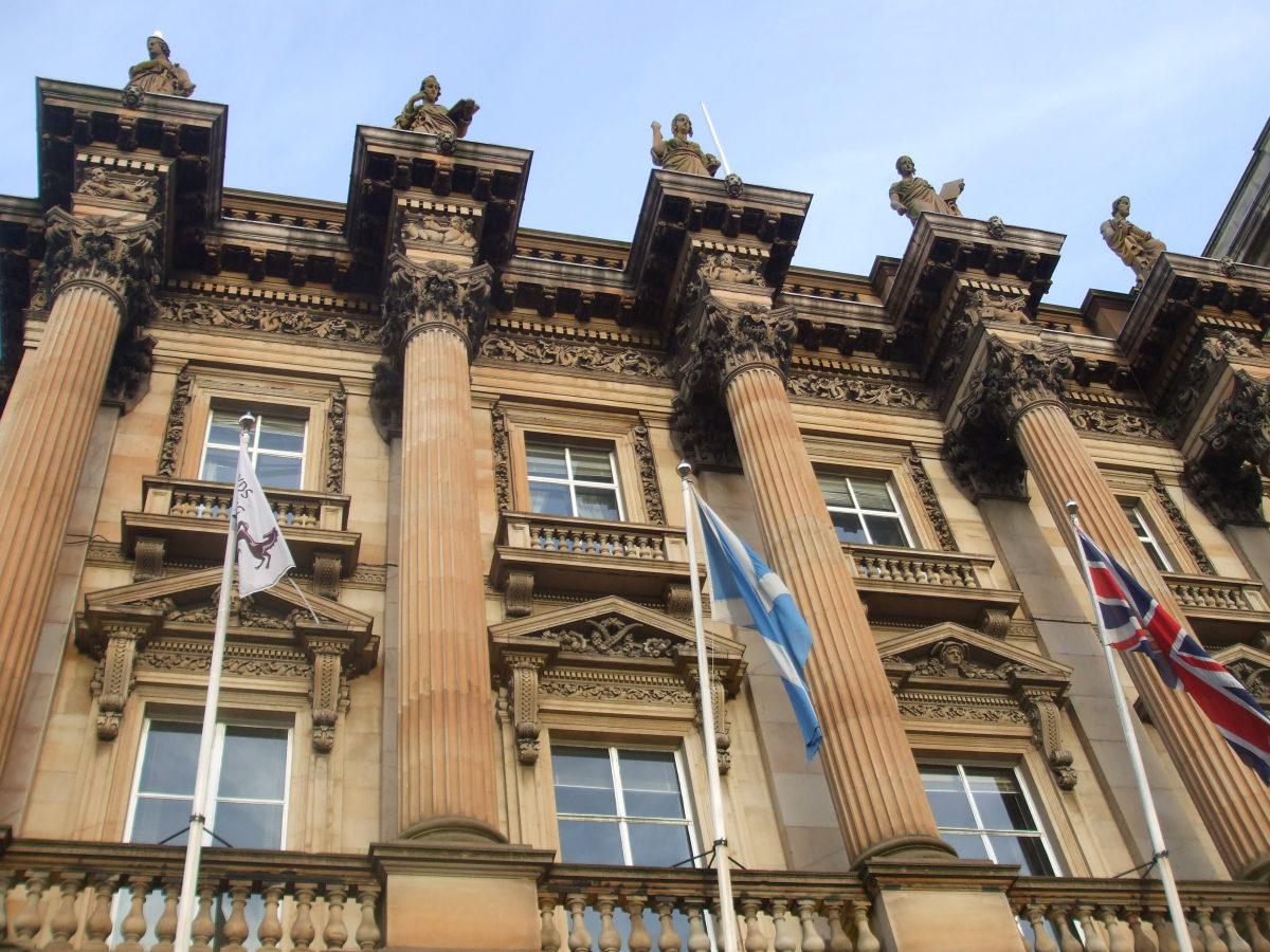 The Bank of Scotland building in St Andrews Square