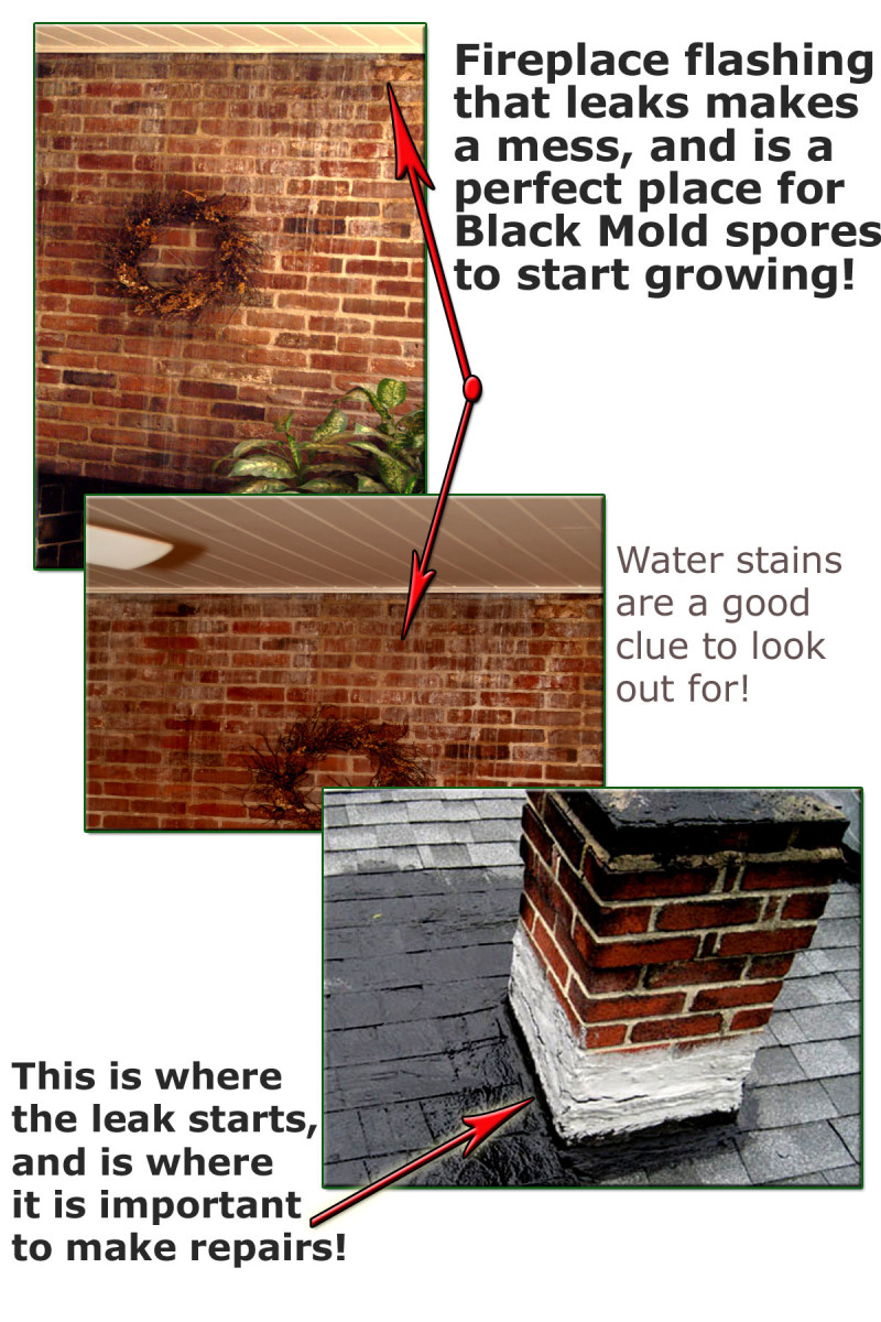 Poorly constructed and installed flashing can promote inner wall, attic, and many more locational problems with toxic mold growth within your home.